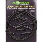 Карповый монтаж KORDA Lead Clip Action Pack Slit KLCAPS