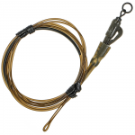 Карповый монтаж KORDA Safe Zone Kamo Leader Ring Swivel Weed KSZ35
