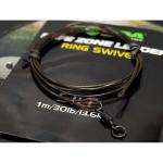 Карповый монтаж KORDA Safezone Leader Ring Swivel 40lb Silt KSZ33