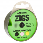 Волосяная оснастка KORDA Ready Zigs on spool 10 Barbless size 10