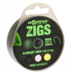 Волосяная оснастка KORDA Ready Zigs on spool 10 size 10