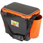 Ящик HELIOS FISHBOX оранжевый односекционный 19л