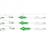 Готовая оснастка MADCAT SREAMING PROFI RIVER RIG WORM & SQUID- L