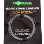 Карповый монтаж KORDA Safe Zone Kamo Leader Ring Swivel Clear KSZ39
