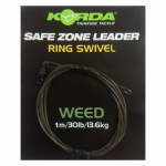 Карповый монтаж KORDA Safe Zone Kamo Leader Ring Swivel Weed KSZ35