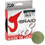 Плетеный шнур DAIWA J-BRAID X8 Dark Green 0.18 (300м.)