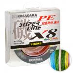 Плетеный шнур KOSADAKA SUPER PE X8 MULTICOLOR 0.14