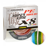 Плетеный шнур KOSADAKA SUPER PE X8 MULTICOLOR 0.30