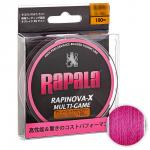 Плетеный шнур RAPALA RAPINOVA-X MULTI GAME 100M #0.3/7.2LB/PINK 0.08 мм