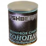 """Прикормка FISH BERRY SPOD MIX Зерновая смесь """"Конопля"""" 430мл."""