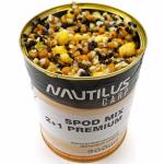 Прикормка NAUTILUS SPOD MIX 2+1 Premium 900ml