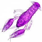 Силиконовая приманка MICROKILLER РАЧОК 40мм. Фиолетовый неон