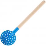 Черпак SPIKE металлический с деревянной ручкой (синий)
