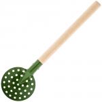 Черпак SPIKE металлический с деревянной ручкой (зеленый)