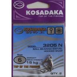 Вертлюжки с застежкой KOSADAKA 3205 BN №4