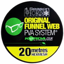 Материал KORDA PVA ORIGINAL FUNNEL WEB 20m