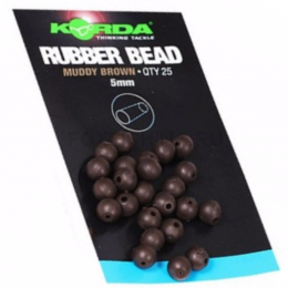 Бусины KORDA SAFE ZONE RUBBER BEAD 5mm (brown)