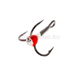Крючки OOSHIMA HOOKS №10 красный-белый со стразой