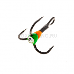 Крючки OOSHIMA HOOKS №6 оранжевый-зеленый со стразой