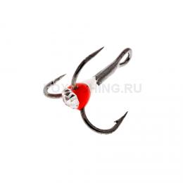 Крючки OOSHIMA HOOKS №8 красный-белый со стразой
