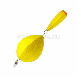 Поплавок SATURN зимний двухсоставной №4 жёлтый