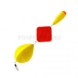 Поплавок SATURN зимний трёхсоставной №3 жёлтый
