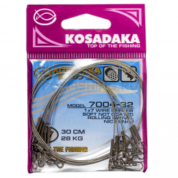 Поводки KOSADAKA CLASSIC NEW 1X7 15см. 3,5кг.