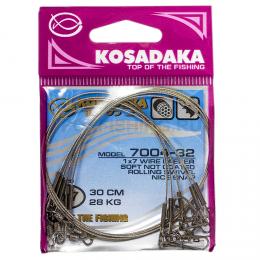 Поводки KOSADAKA CLASSIC NEW 1X7 30см. 17кг.