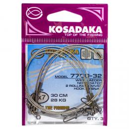Поводки KOSADAKA PROFESSIONAL 7X7 22см. 17кг.