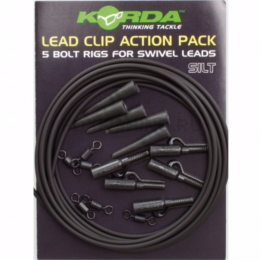 Карповый монтаж KORDA Lead Clip Action Pack Slit KLCAPS