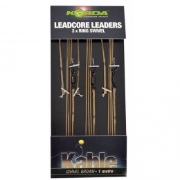 Карповый монтаж KORDA Leadcore-Ring Swivel 1м Gravel LLRSG