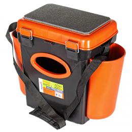 Ящик HELIOS FISHBOX оранжевый односекционный 10л.