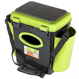 Ящик HELIOS FISHBOX зеленый односекционный 10л.