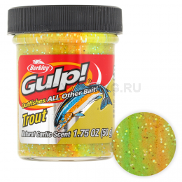 Форелевая паста BERKLEY GULP DOUGH NATURAL SCENT GARLIC RAINBOW