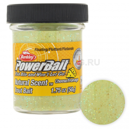Форелевая паста BERKLEY PowerBait NATURAL SCENT CHEESE LIGHT GREEN