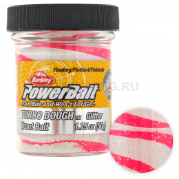 Форелевая паста BERKLEY PowerBait SELECT GLITTER TURBO DOUGH BUBBLE GUM