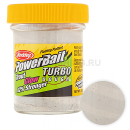 Форелевая паста BERKLEY PowerBait SELECT GLITTER TURBO GLOW WHITE GLOW
