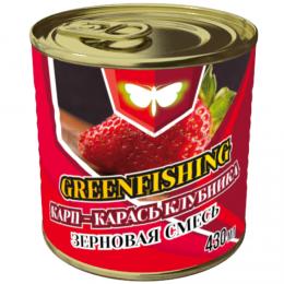 Зерновая смесь GREENFISHING art. МИКС КАРП КАРАСЬ КЛУБНИКА 0,43