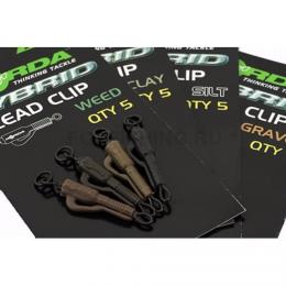 Клипсы KORDA Hybrid Lead Clip Weed KHCW