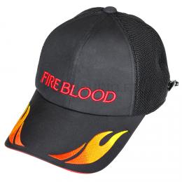 Бейсболка SHIMANO Fireblood CA-182E с клипсой Цв.черный