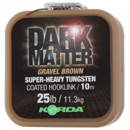 Поводковый материал KORDA DARK MATTER TUNGSTEN COATED BRAID GRAVEL BROWN 25lb