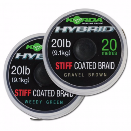 Поводковый материал KORDA Hybrid Stiff Weed Green 20lb 20м KHY1