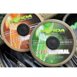 Поводковый материал KORDA Super natural Gravel Brown 25lb KSNB25