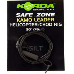 Карповый монтаж KORDA Safezone Leader Helicopter Silt Brown 30lb 76см KSZ11