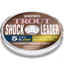 Леска флюрокарбоновая VARIVAS TROUT SHOCK LEADER FLUORO 30m №1 4lb