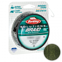 Плетеный шнур BERKLEY SOLUTIONS BRAID GREEN 125m 0.24mm