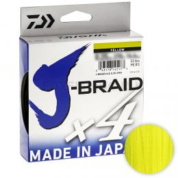 Плетеный шнур DAIWA J-BRAID X4 135м. 0.07мм. YELLOW