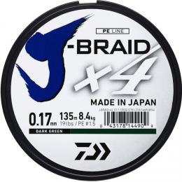 Плетеный шнур DAIWA J-BRAID X4 0.25 (135м.)