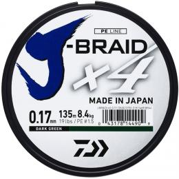 Плетеный шнур DAIWA J-BRAID X4 0.29 (135м.)