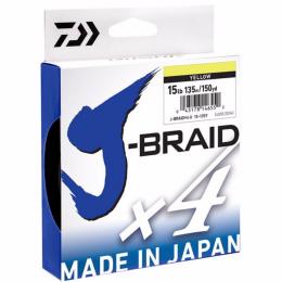 Плетеный шнур DAIWA J-BRAID X4 0.15 (135м.) Yellow